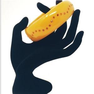 NWT Mix It yellow thick bangle bracelet